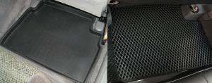 Классический автоковрик с бортиками против ячеистого коврика EVA