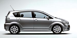 Toyota Corolla Verso (7 мест) 1-е поколение 2007-2009, коврики в салон