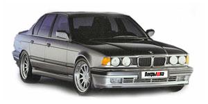 BMW 7 (E32) Long 1986 -1994, коврики в салон