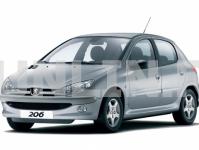 Peugeot 206 1998 и новее, коврики в салон