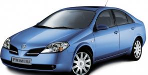 Nissan Primera 3 (P12) 2001 - 2008, готовые коврики (бежевый с бежевым кантом)
