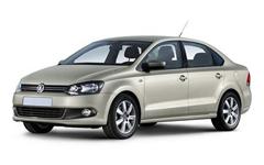 VolkswagenPolo 5 (седан) 2010, готовый комплект (синий с шоколадным кантом)