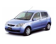 Mazda Demio (DY) правый руль 2-е поколение 2002-2007, коврики в салон