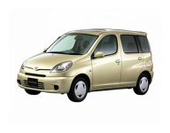 Toyota FunCargo 1999-2005 правый руль, ковры в салон