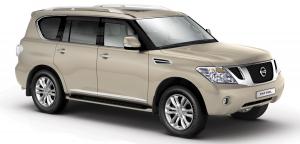 Nissan Patrol (Y62) 3 ряда 2010 и новее, ковры в салон