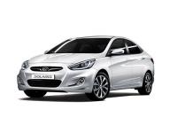 Hyundai Solaris 1-е поколение (дорестайл) 2010-2014, ковры в салон