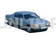 Mercedes (W123) Coupe 1976 - 1985, коврики в салон